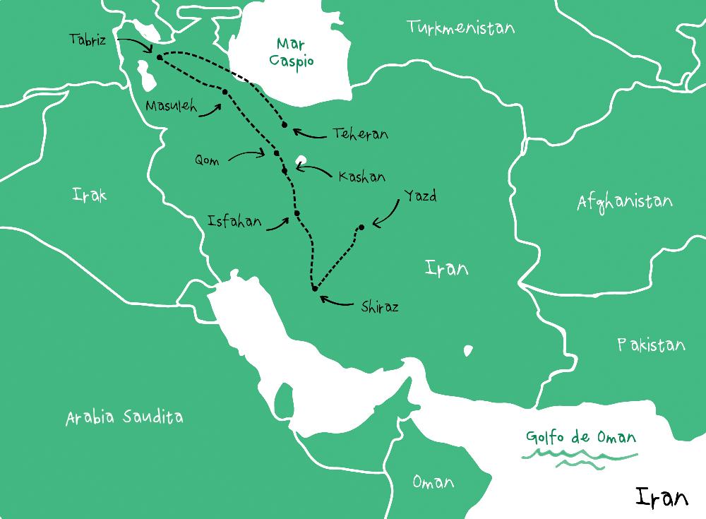 Ruta Iran